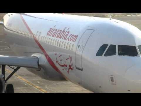 airarabia A320 parked at sharjah international airport