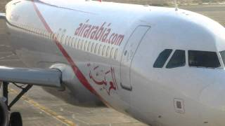 airarabia A320 parked at sharjah international airport