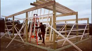 #10 Installing Rafters On The Tiny House