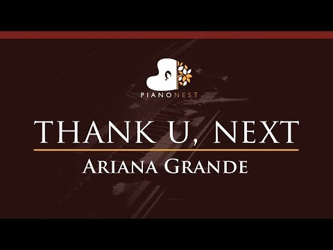 Ariana Grande - thank u next - HIGHER Key Piano Karaoke  Sing Along