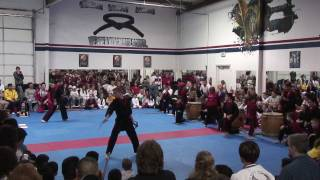 Martial Arts Demo to Taiko (Japanese Drums)