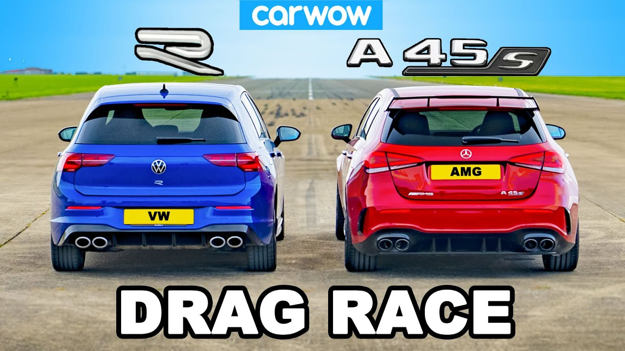 Download New VW Golf R vs AMG A45 - DRAG RACE *The Truth!*