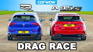 New VW Golf R vs AMG A45 - DRAG RACE *The Truth!*