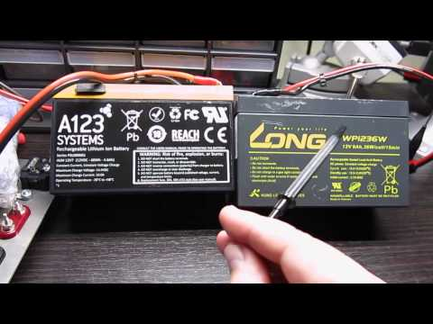 Battery Technology Comparison - Small AGM vs A123 ALM-12V7 LiFePo4 Battery Module