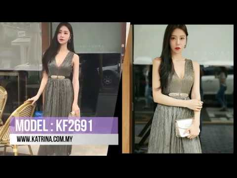 V NECK SLEEVELESS DRESS KF2691