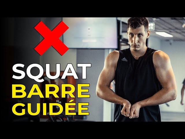 STOP AU SQUAT BARRE GUIDÉE (SMITH MACHINE) EN MUSCULATION