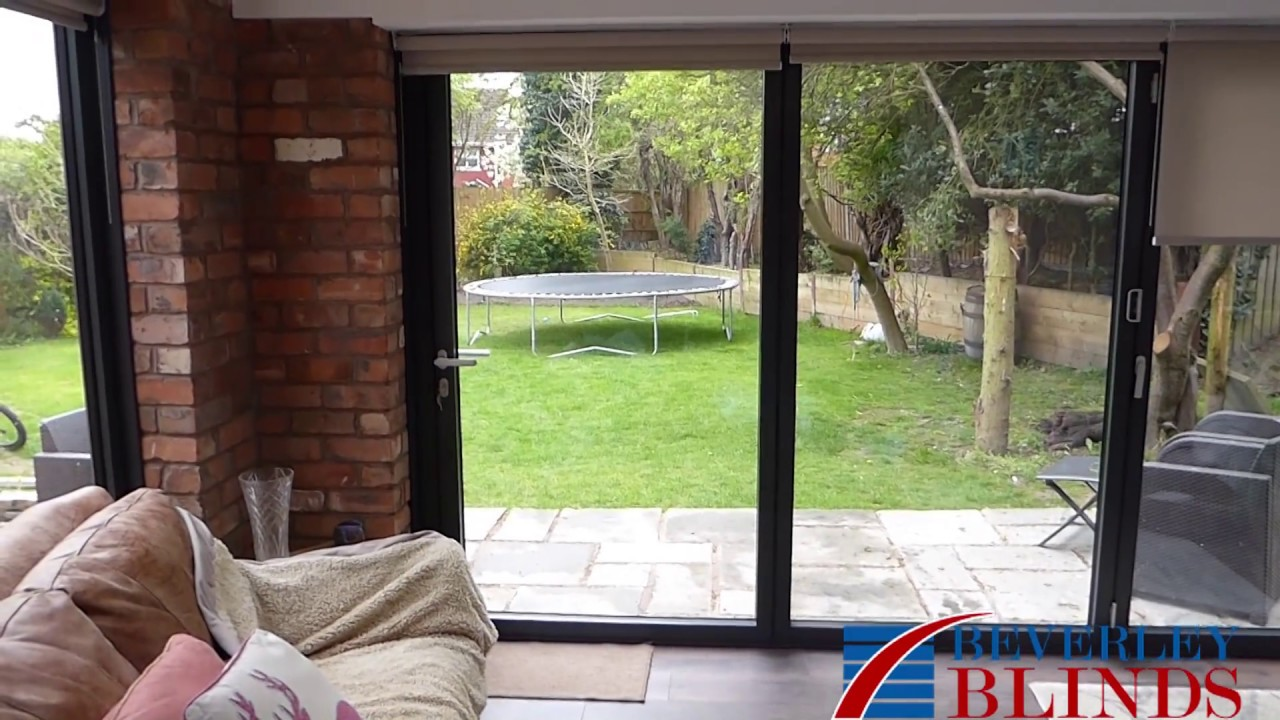 Electric Roller Blinds Fitted To Bi Fold Doors Youtube