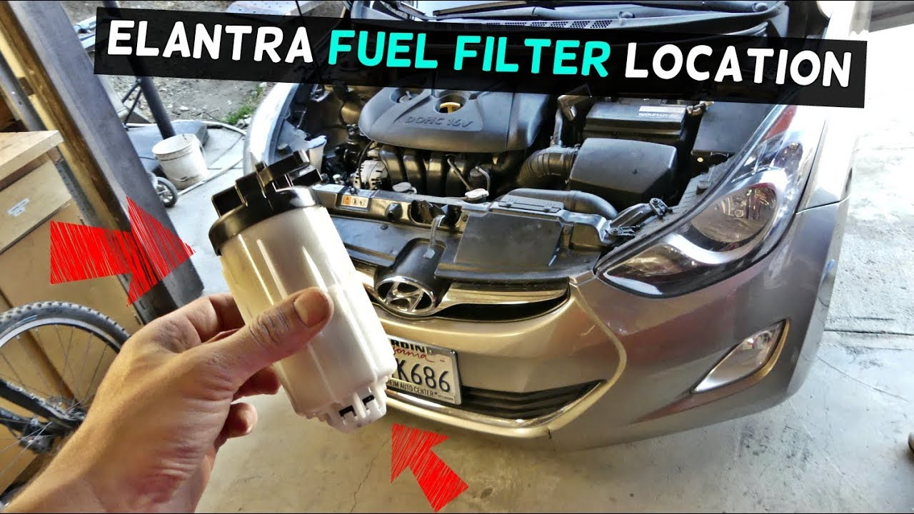 where is the fuel filter located on hyundai elantra [ 1280 x 720 Pixel ]