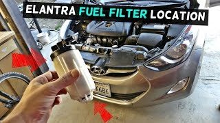 WHERE IS THE FUEL FILTER LOCATED ON HYUNDAI ELANTRA - YouTube | Hyundai Accent Fuel Filter Replacement |  | YouTube