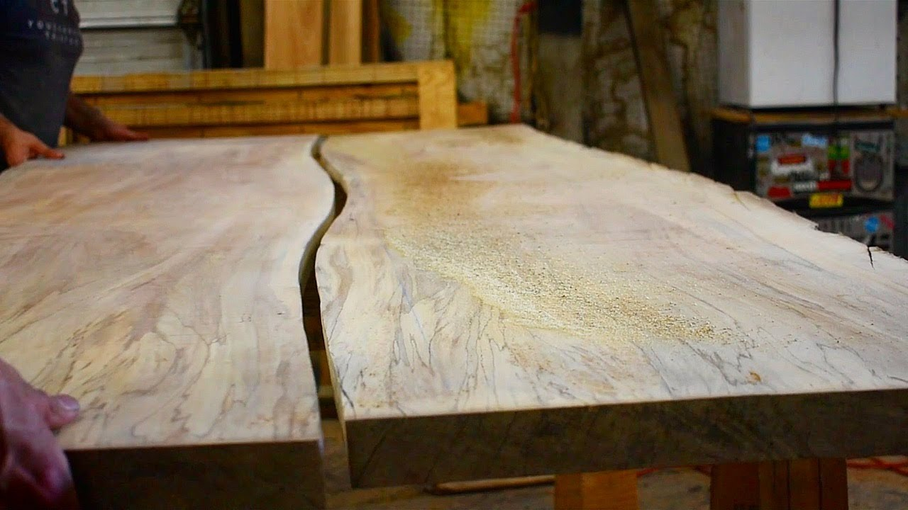 Superbe Join Boards On A Curve | How To Make A Slab Table Top