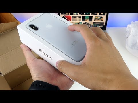 iPhone X Clone Unboxing White Edition - First Look!