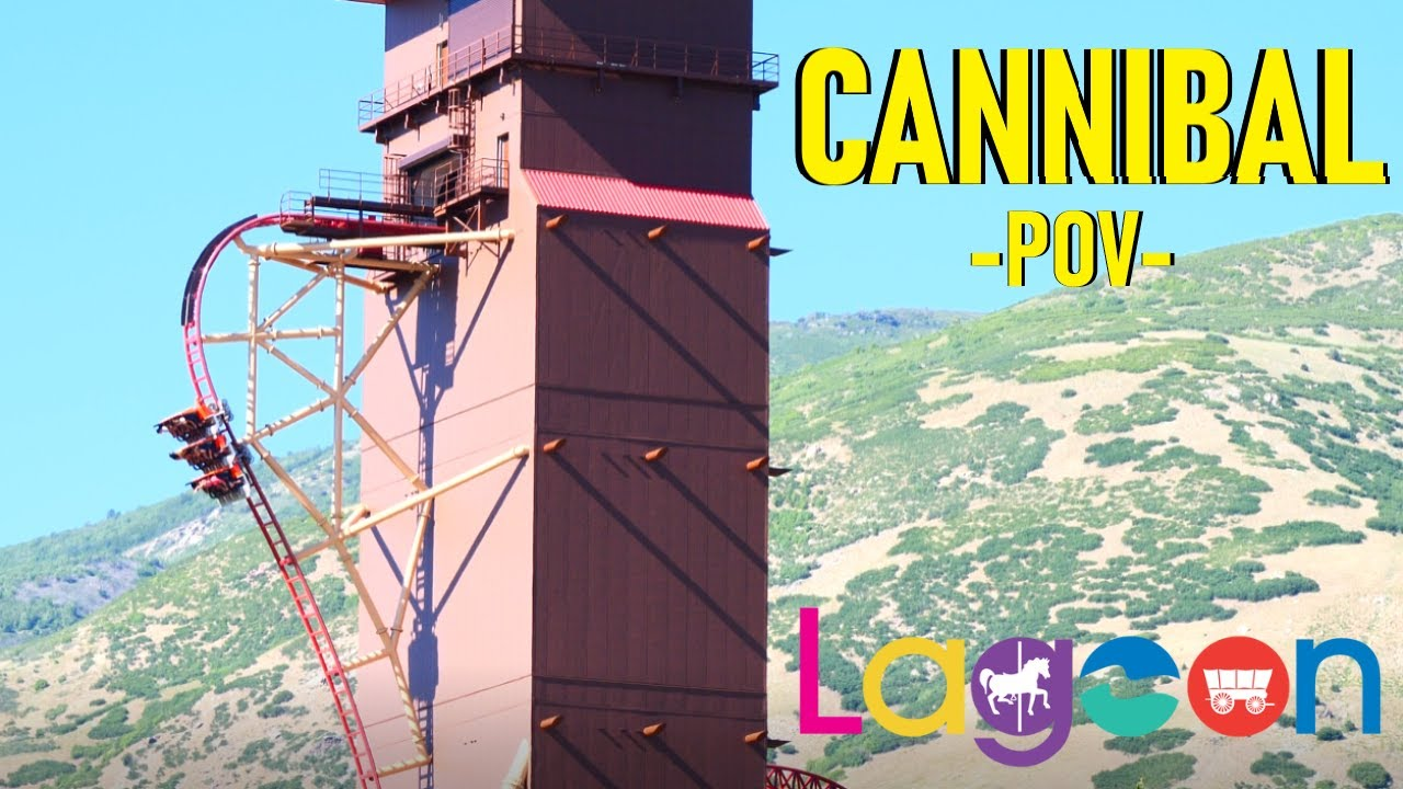 Download CANNIBAL Elevator Lift Coaster POV - Front On Ride - Lagoon, Utah