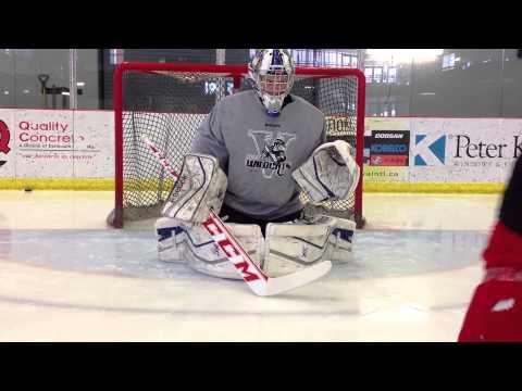 Glove/Blocker Development : Catching & steering pucks while in down movements