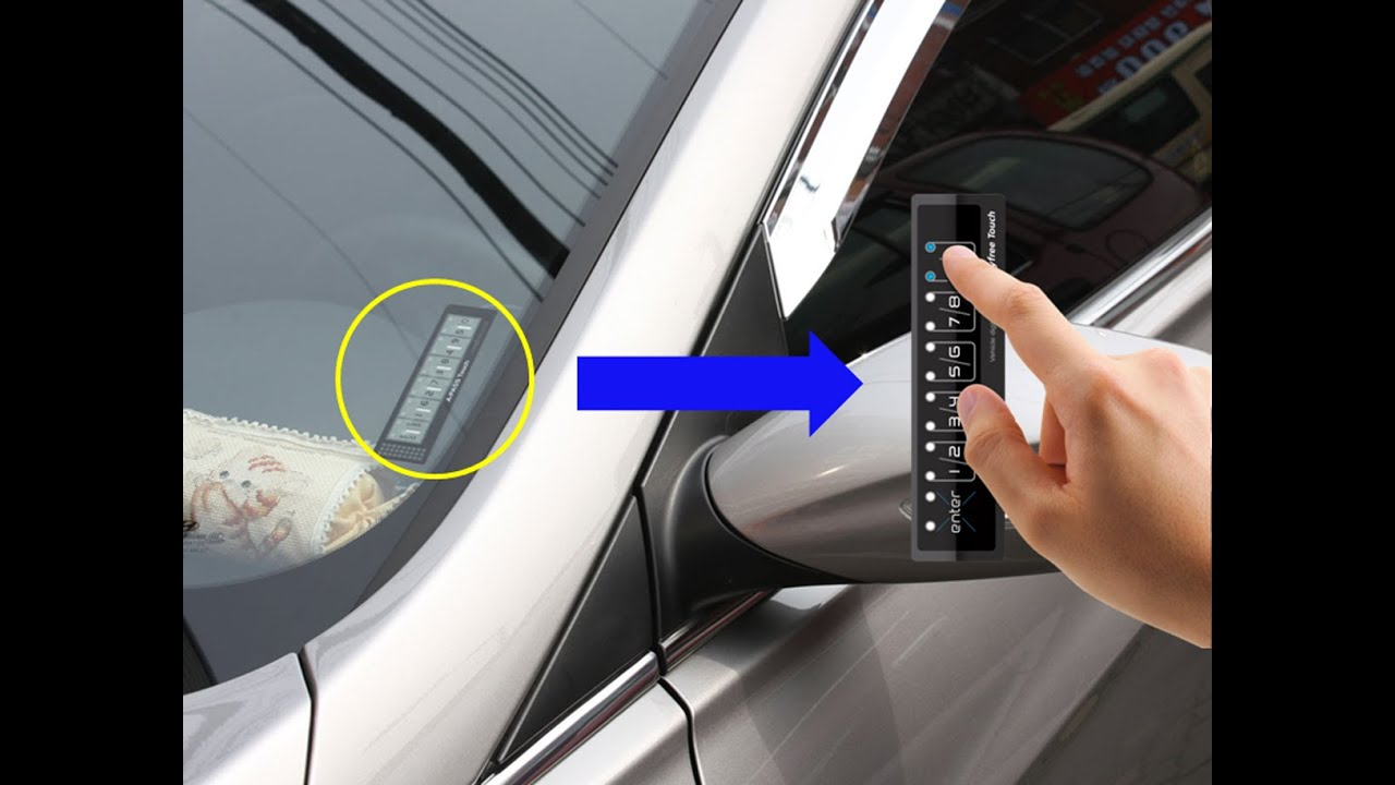 Amazing Keyless Entry Keypad For Car Sharing Camping Surfing Youtube