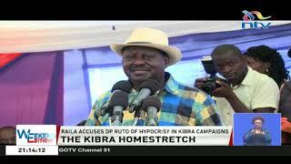 'Porojo mingi': Raila Odinga accuses DP Ruto of hypocrisy in Kibra campaigns