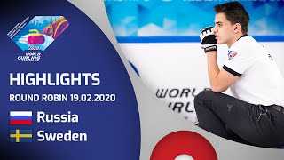 HIGHLIGHTS: Russia v Sweden - Men's round robin - World Junior Curling Championships 2020