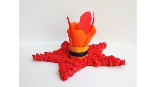 Поделки на 9 мая День Победы своими руками. Вечный огонь из цветной бумаги