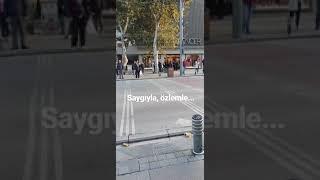 10 Kasım 2018/09:05 - Bağdat Caddesi - Atatürk'ün Ölüm Yıldönümü Saygı Duruşu Kadıköy