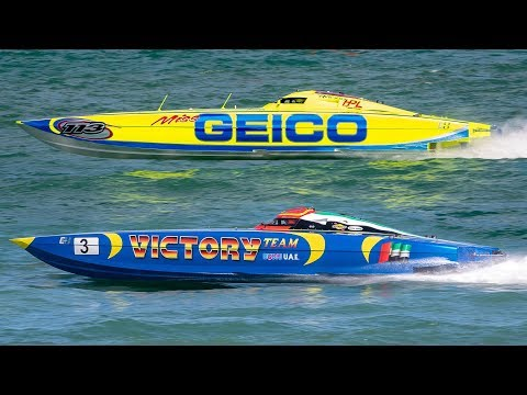 Offshore POWERBOAT Racing | SUPER BOAT Miss Geico Rolls Over | Sarasota Grand Prix 2019