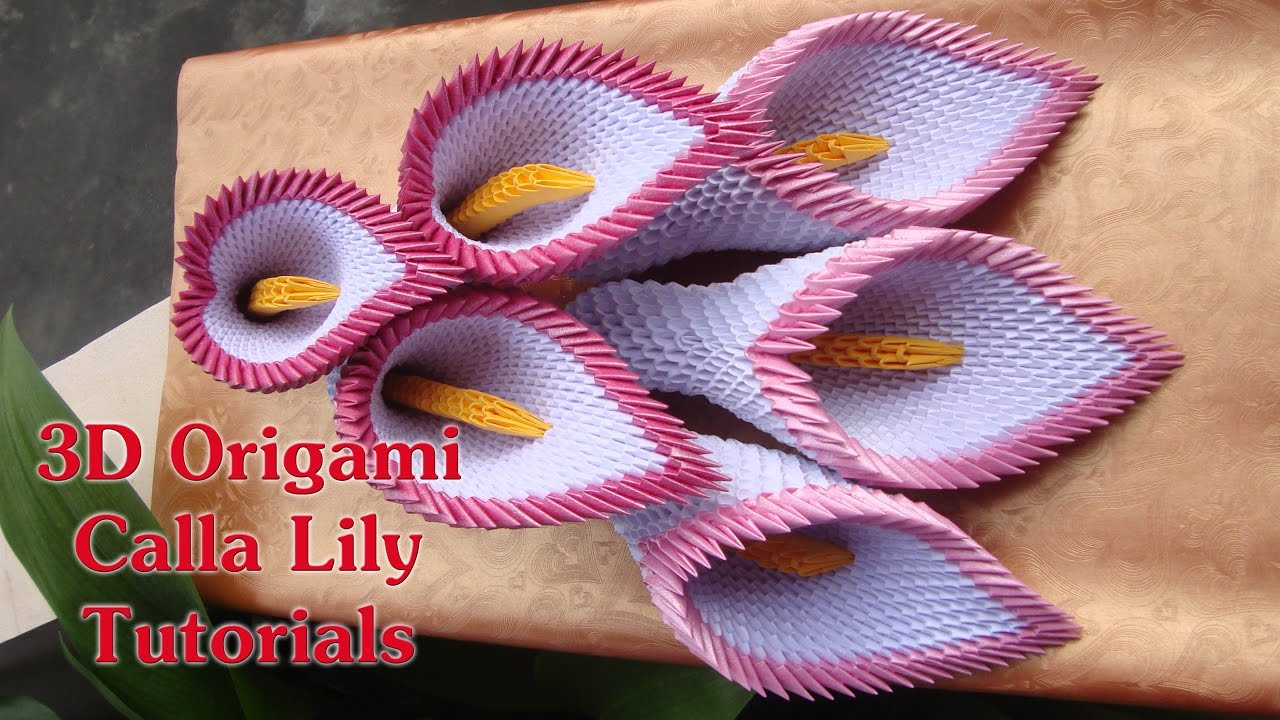 how to make 3d origami calla lily