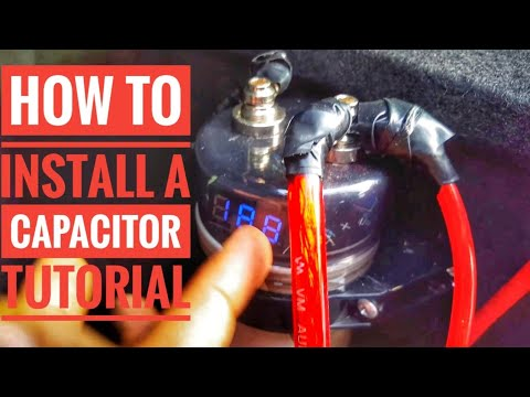 HOW TO INSTALL A CAPACITOR TO YOUR  CAR TUTORIAL