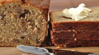 Banana Bread Recipe Demonstration - Joyofbaking.com