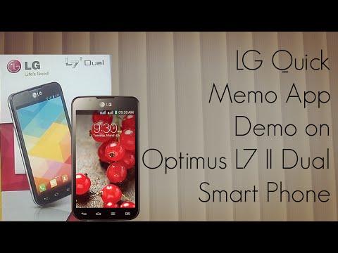 LG Quick Memo App Demo on Optimus L7 II Dual Smart Phone