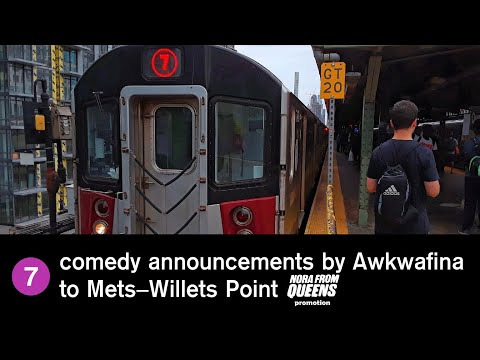 ᴴᴰ R188 7 Train Comedy Announcements By Awkwafina [to Mets-Willets Pt]