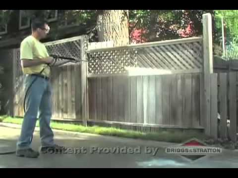 how to use a power washer to clean deck