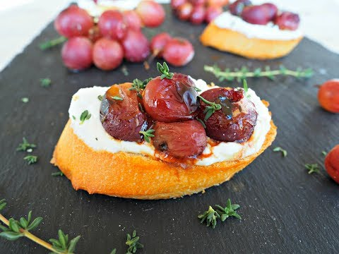 Appetizer Recipe: Roasted Grape Crostini by Everyday Gourmet with Blakely