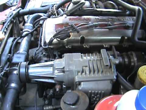 Diy Supercharged Nissan 240sx Engine View