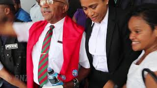 Sitiveni Rabuka leaving High Court in Suva