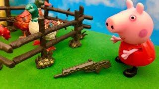 Świnka Peppa i Karabin  Znaleziona broń   Bajka dla dzieci po Polsku