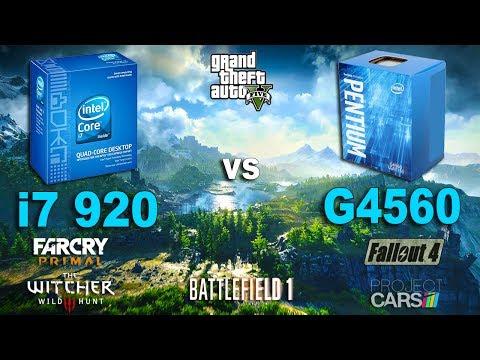 Pentium G4560 vs i7 920 Test in 6 Games