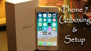 iPhone 7 Gold (Refurbished) Unboxing and Setup
