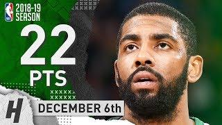 Kyrie Irving Full Highlights Celtics vs Knicks 2018.12.06 - 22 Pts, 8 Ast, 4 Rebounds!