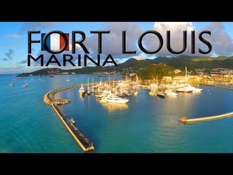 Marina Fort Louis ~ Saint Martin ~ UAV Drone ~ WeBeYachting.com