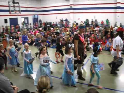 Character Parade at Mulberry Creek Elementary School, Clip 1 of 3