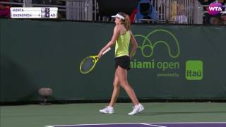 2017 Miami Open Second Round | Konta vs Sasnovich | WTA Highlights