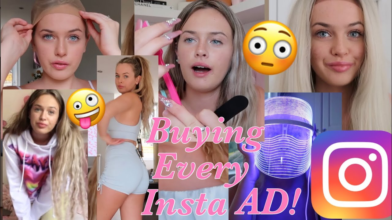 I Bought EVERY Instagram ADVERT For A WEEK!!😳💕