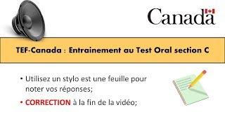 TEF CANADA : Préparation 2 au Test de Compréhension Orale section C