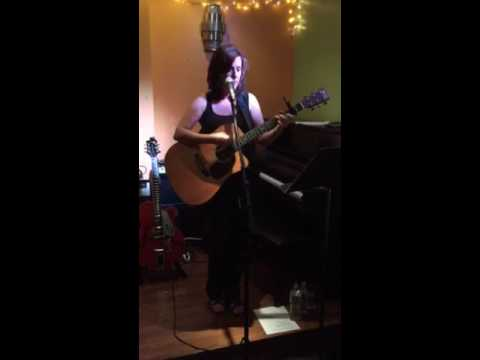 Valerie Gomes performing an original song Illusions at Path Cafe 2015