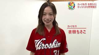 カープ女子 古田ちさこさんにがっつりプロ野球発売にあたり、コメントを...