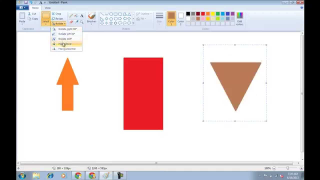 How To Rotate An Image In Paint By  Degrees
