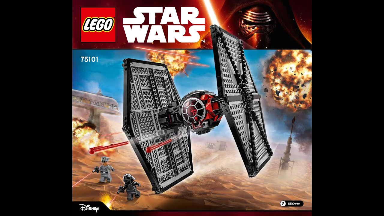 lego star wars first order special forces tie fighter 75101 building kit diy instructions youtube. Black Bedroom Furniture Sets. Home Design Ideas