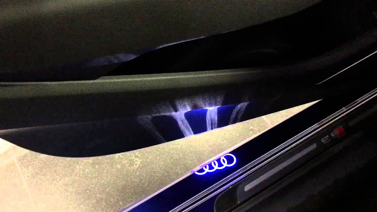 Audi Four Rings Puddle Lights Youtube