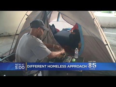 Oakland Transforms Homeless Camp Into Homeless Shelter