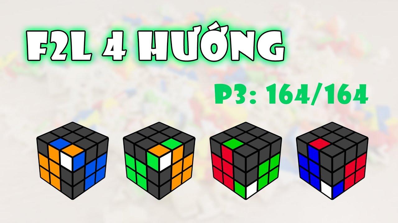 F2L 4 hướng - Phần 3: 164/164 | Rubik Ocean