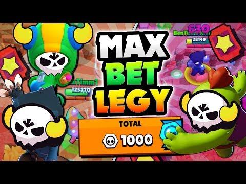ALL LEGENDARIES MAX TICKET BETS IN BIG GAME! | Brawl Stars | 1000 BRAWL BOX TOKENS GAMEPLAY