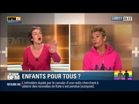 Débat Frigide Barjot et Jean-Luc Roméro sur BFMTV (13/12/2013)